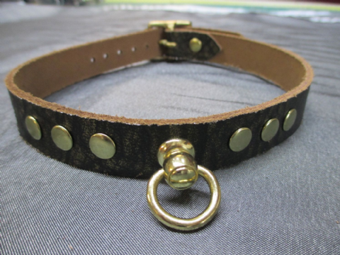 Ancient Pharaoh Gold Collars with Solid Brass Fittings.
